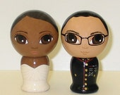 Custom Military Wedding Cake Toppers Kokeshi Doll Style