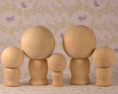 Do It Yourself Cake Topper Family Wooden Kokeshi Dolls