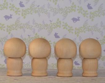 Do It Yourself Medium Wooden Kokeshi Dolls