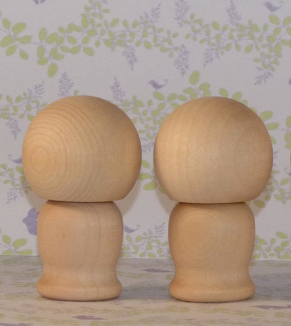 Do It Yourself Medium Cake Topper Wooden Kokeshi Dolls