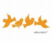 Wall Art Vinyl Decal Sticker Home Kids - Tree series - FOREST BIRDS /// Create your own tree decal