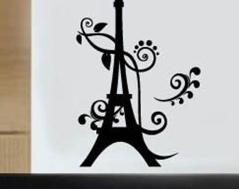 Wall Art Vinyl Decal Sticker Art Eiffel Tower
