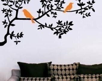 Wall Art Vinyl Decal Sticker Home -Tree Branch and Birds II