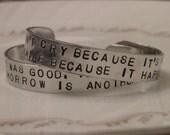 Handstamped Dr. Seuss Bracelet
