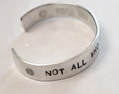 Hand-stamped 7 inch length Silver Metal Custom cuff