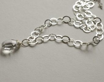 Crystal Quartz Nugget Necklace