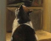 Small Impressionist Oil Painting by Jonelle Summerfield  Cat 16x8  See the close ups for details