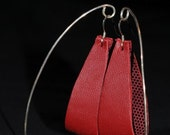 HOOPS - Recycled Leather Earrings