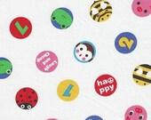 Lecien Minny Muu - Animal Numbers Polka Dot - Japanese Fabric - 1\/2 Yard