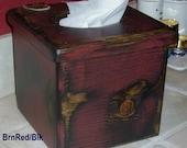 PRIMITIVE Wood Kleenex Tissue Box Cover
