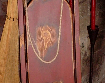 Primitive Wood Grungy Antique SLED