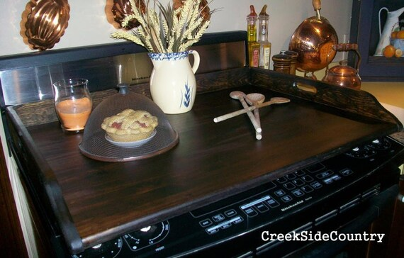 Noodleboard STOVE TOP Cover Board - stained