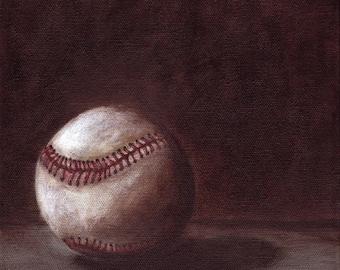 Baseball - - - 8 X 8 print