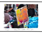 Occupy Wall St., II ... orig. NYC OWS foto postcard