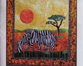 Quilt Pattern - Zebras Crossing wall hanging