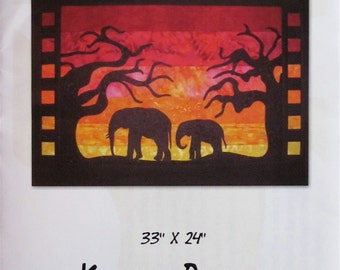 Quilt Pattern - Safari Sunset wall hanging