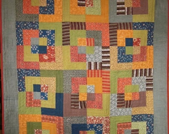 Patchwork Quilt - Indian batik Bento Box throw