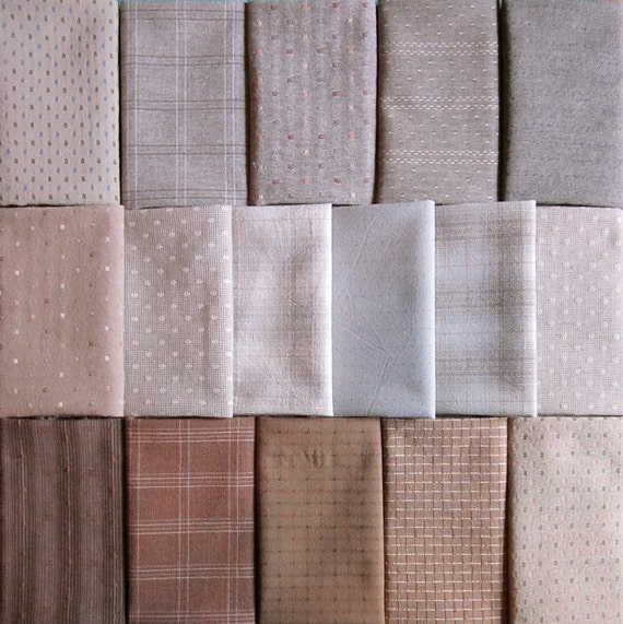 Japanese Taupe Fabrics 16 Beige And Gray Fat Eighths