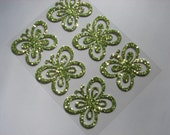 Supplies-Green Glitter Butterfly Sticker