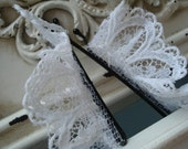 I Feel Pretty, Oh So Pretty - pair of vintage lace hair pins