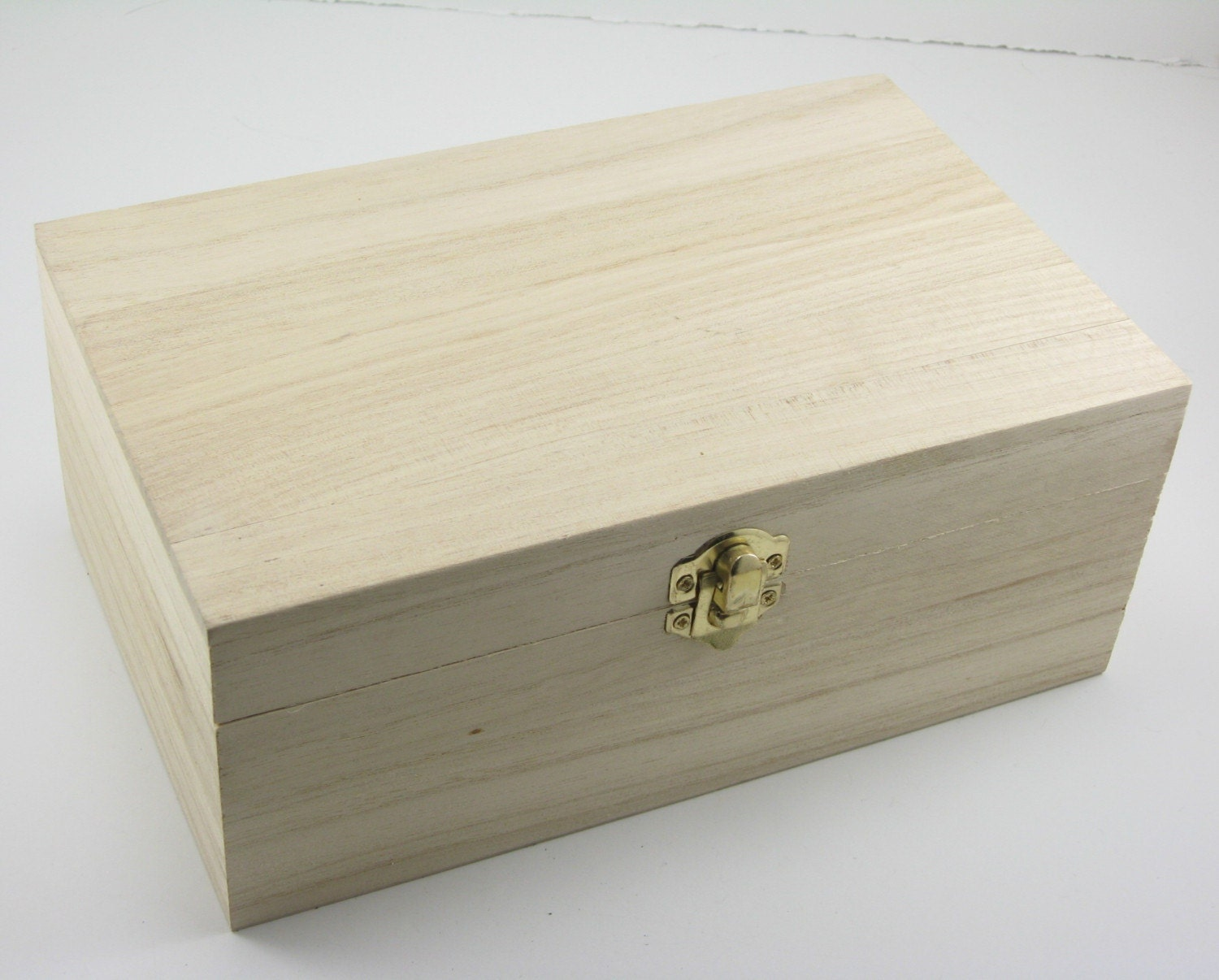Unfinished Hinged Wood Box: 6 x 4 x 2 inches  |Large Unfinished Wooden Boxes