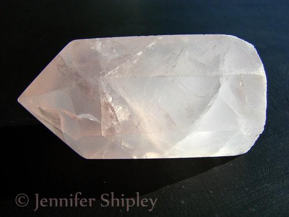 Pink Rose Quartz Crystal Healing Wand 310 Carats
