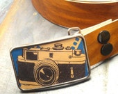 Camera belt buckle, vintage retro photography, Old School