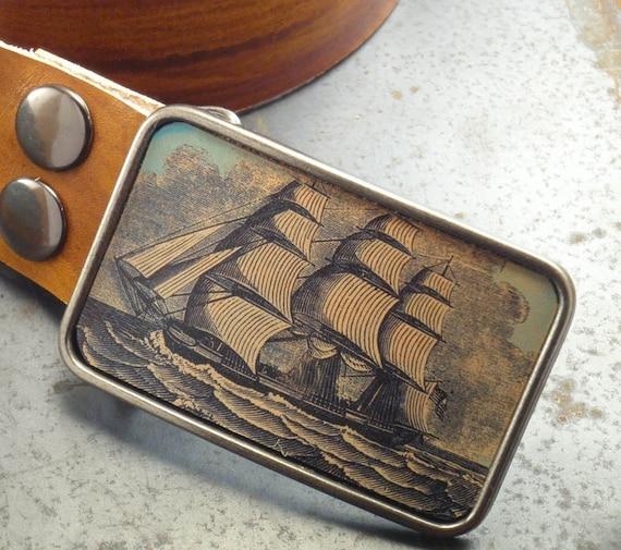Over the seven seas belt buckle