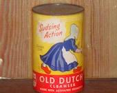 Vintage Old Dutch Cleanser Shaker Tin unopened