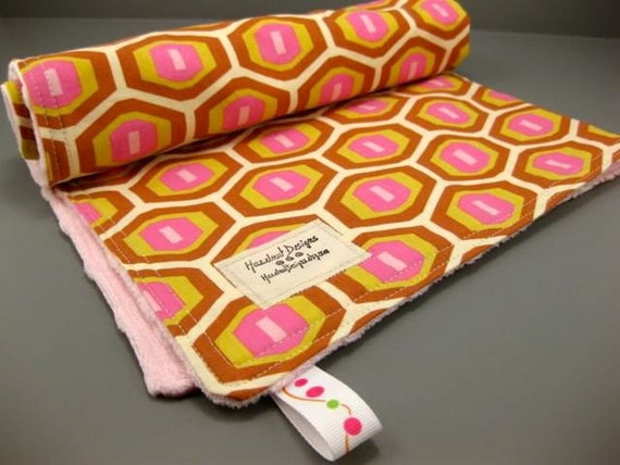 Baby Blankie or Changing Mat - Amy Butler Honeycomb fabric - Modern Girl