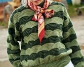 SALE- Vintage 100% wool green sweater