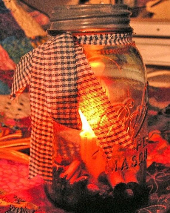 Night Light - Lighted Quart (BALL) Vintage Canning Jar