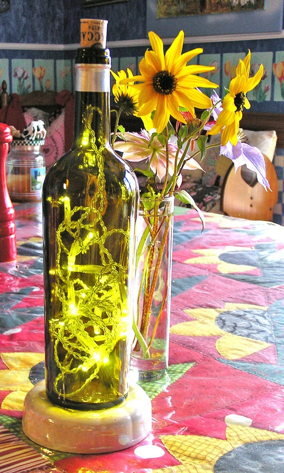 Lighted Wine Bottle - Battery operated - LED lights
