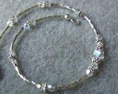 Sparkling Anklet in Silver and Swarovski Crystals