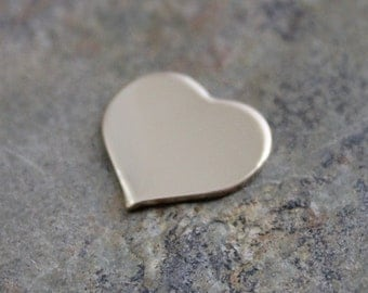 2 pack - 1/2 inch 20 g HEART GOLD FILL Jewelry Stamping Supplies
