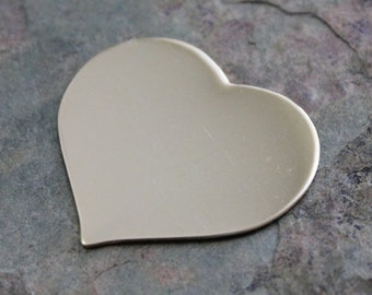 1.25 inch 22 g HEART GOLD FILL Jewelry Stamping Supplies