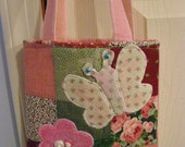 Toddler Girls Butterfly tote bag