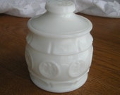 Eagle Milk Glass Vintage Covered Dish Container