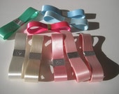 Assortment of Bundle Satin Ribbons Pastel Colors