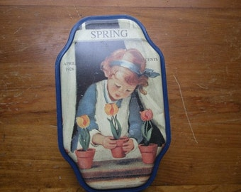 DECORATIVE SPRING TIN with Good Housekeeping April 1928 Reproduction