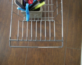 Office wire rack for organizing craft projects and ephemera