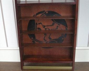 Birds in a Circle Wooden Shelf  Tray