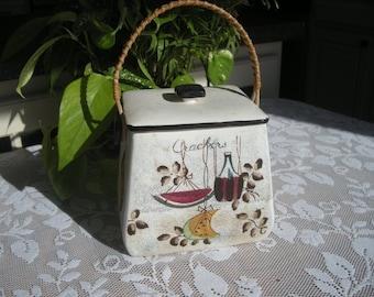Vintage Royal Sealy Jamaica Cracker Storage Box