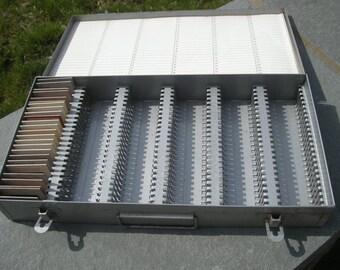 Aluminum Metal Slide Box- with 25 Classic Vintage slides