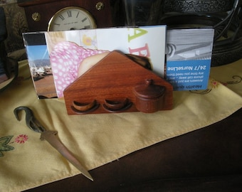 Mid Century Wooden Letter Napkin Holder