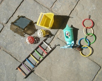 Instant Collection of Retro Bird Toys for the Bird Cage