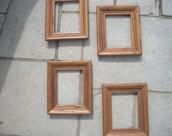 4 Matching F W Woolworth Vintage  Wooden Frames