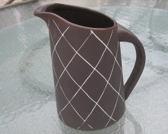 Vintage Modern Brown Pitcher Vase by Balos