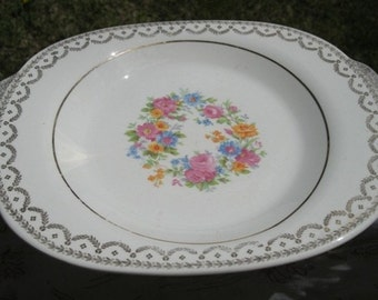 Lovely 12 x 9 inch Vintage Serving Platter