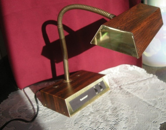 Tensor Gooseneck Desk Lamp with Dimmer  Vintage Retro